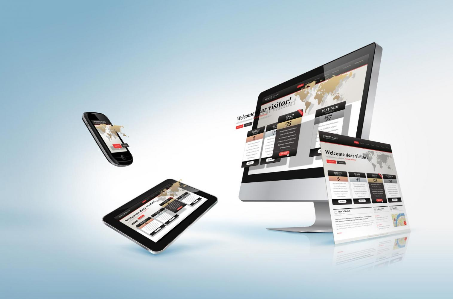 Website design company Greece One to fit them all - Responsive website